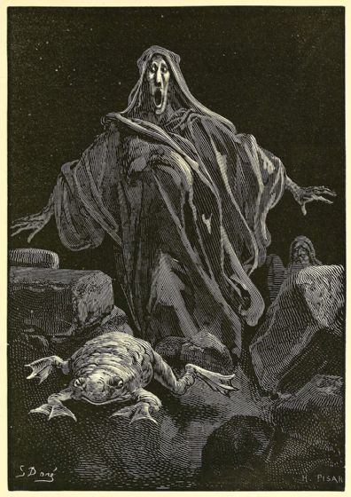Dore, Gustave: The Shriek of Timidity. Fine Art Illustration/Print/Poster. Sizes: A4/A3/A2/A1 (003697)